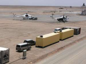Remote Site Helicopter Base